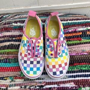 VANS + Checkered Rainbow Print Skater Shoes